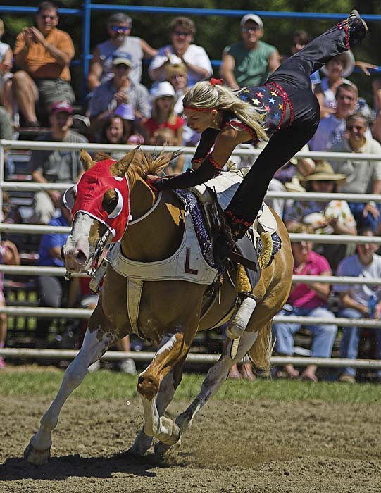 Trick rider at the Ellicottville Rodeo! Photo by Daniel Clune.