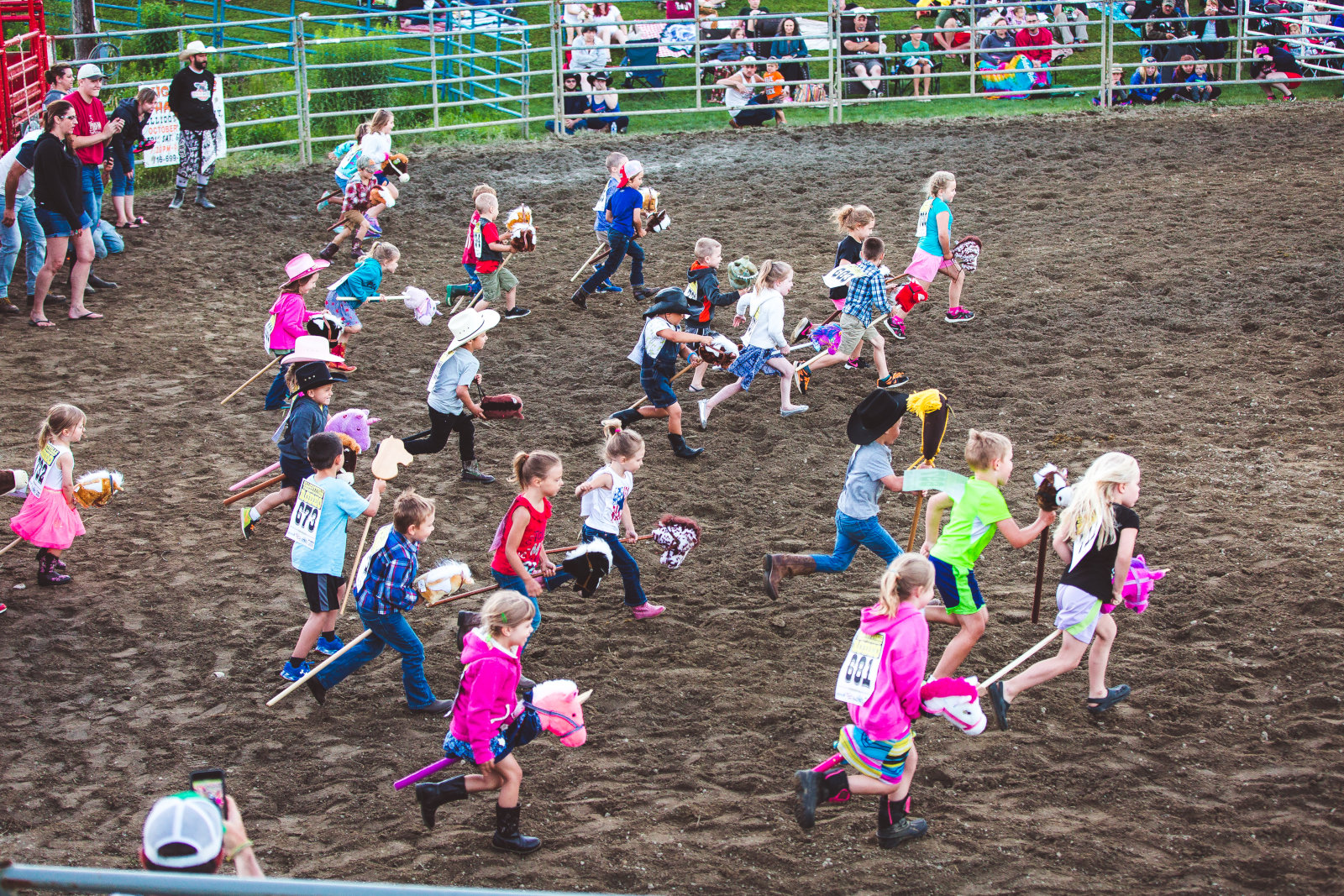 Stick-horse race at the Ellicottville Rodeo in July 2018