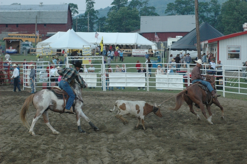 Team Roping at the Ellicottville Championship Rodeo