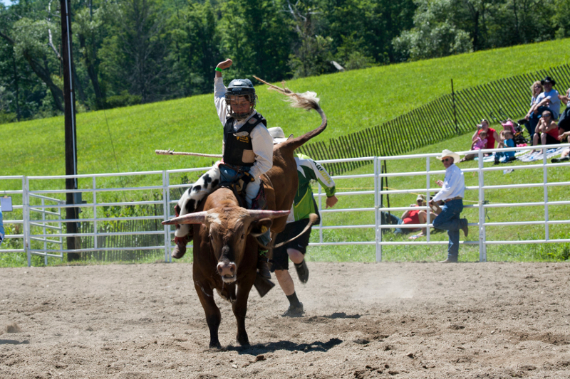 Junior Bull Rider at the Ellicottville Rodeo