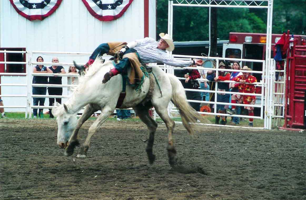 Bareback bronc riding at the Ellicottville Rodeo!