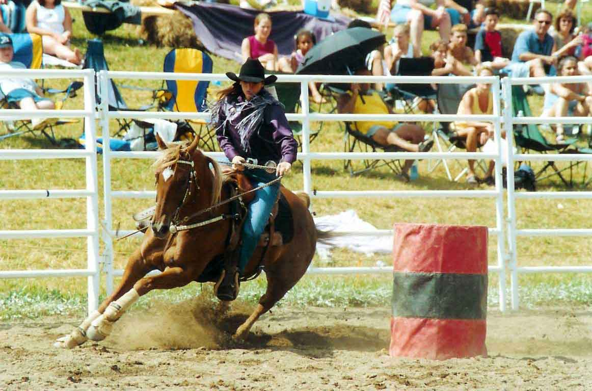 Cowgirls barrel racing at the Ellicottville Rodeo!