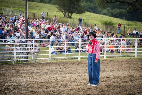Clown at the rodeo by Ted Martin